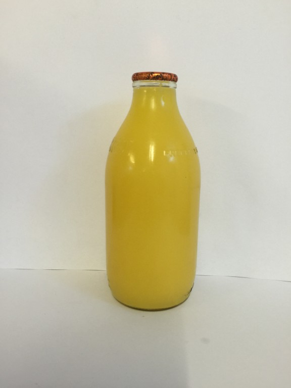 1 Pint Glass Orange Juice Edwards Dairy Chirk